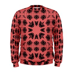 Digital Computer Graphic Seamless Patterned Ornament In A Red Colors For Design Men s Sweatshirt