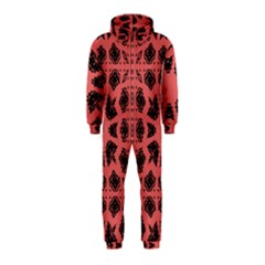 Digital Computer Graphic Seamless Patterned Ornament In A Red Colors For Design Hooded Jumpsuit (kids) by Simbadda