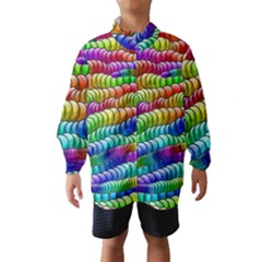 Digitally Created Abstract Rainbow Background Pattern Wind Breaker (kids) by Simbadda