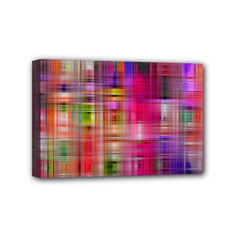Background Abstract Weave Of Tightly Woven Colors Mini Canvas 6  X 4  by Simbadda