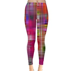 Background Abstract Weave Of Tightly Woven Colors Leggings  by Simbadda