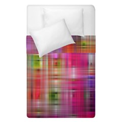 Background Abstract Weave Of Tightly Woven Colors Duvet Cover Double Side (single Size) by Simbadda