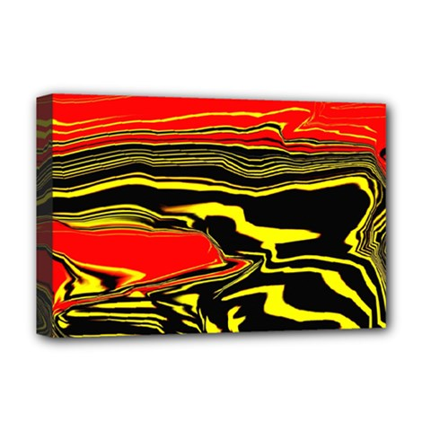 Abstract Clutter Deluxe Canvas 18  X 12   by Simbadda