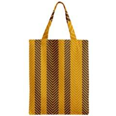 Brown And Orange Herringbone Pattern Wallpaper Background Classic Tote Bag by Simbadda