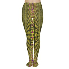 Fractal In Purple And Gold Women s Tights