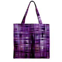 Purple Wave Abstract Background Shades Of Purple Tightly Woven Zipper Grocery Tote Bag by Simbadda