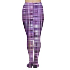 Purple Wave Abstract Background Shades Of Purple Tightly Woven Women s Tights by Simbadda