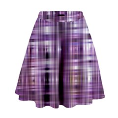 Purple Wave Abstract Background Shades Of Purple Tightly Woven High Waist Skirt by Simbadda