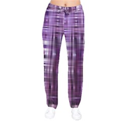 Purple Wave Abstract Background Shades Of Purple Tightly Woven Drawstring Pants by Simbadda