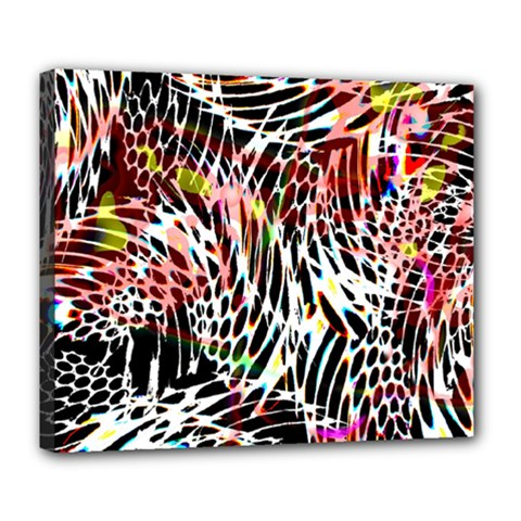 Abstract Composition Digital Processing Deluxe Canvas 24  X 20   by Simbadda