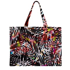 Abstract Composition Digital Processing Zipper Mini Tote Bag by Simbadda