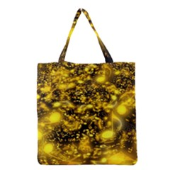 Vortex Glow Abstract Background Grocery Tote Bag by Simbadda