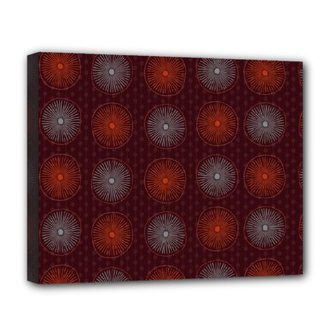 Abstract Dotted Pattern Elegant Background Deluxe Canvas 20  X 16   by Simbadda