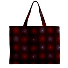 Abstract Dotted Pattern Elegant Background Zipper Mini Tote Bag by Simbadda