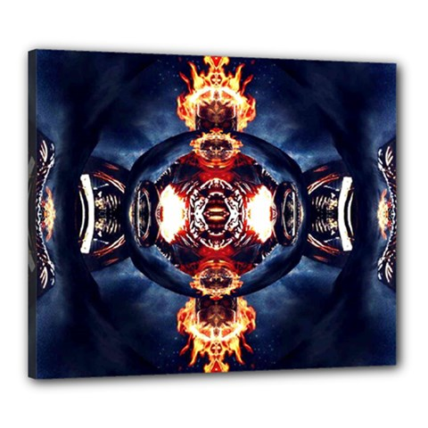 Skulls On Fire Canvas 24  x 20  by 3Dbjvprojats