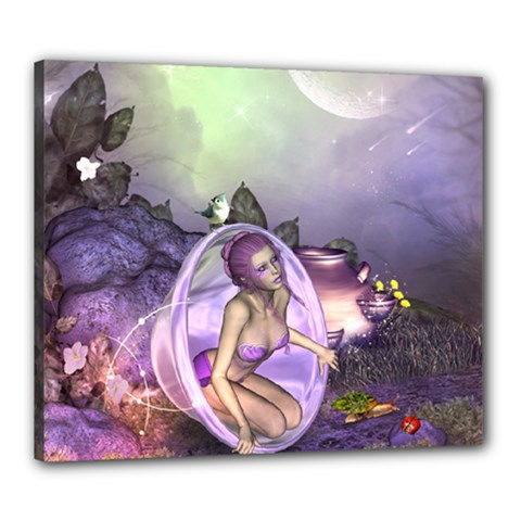 Wonderful Fairy In The Wonderland , Colorful Landscape Canvas 24  X 20  by FantasyWorld7