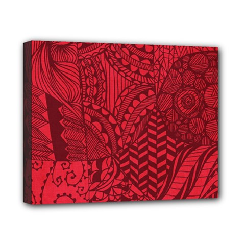 Deep Red Background Abstract Canvas 10  X 8  by Simbadda