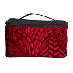 Deep Red Background Abstract Cosmetic Storage Case by Simbadda