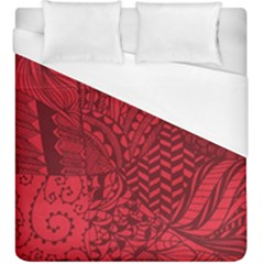 Deep Red Background Abstract Duvet Cover (king Size) by Simbadda