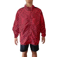 Deep Red Background Abstract Wind Breaker (kids) by Simbadda