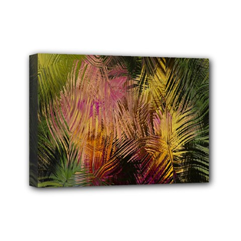 Abstract Brush Strokes In A Floral Pattern  Mini Canvas 7  X 5  by Simbadda
