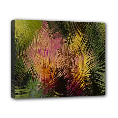 Abstract Brush Strokes In A Floral Pattern  Canvas 10  X 8  by Simbadda