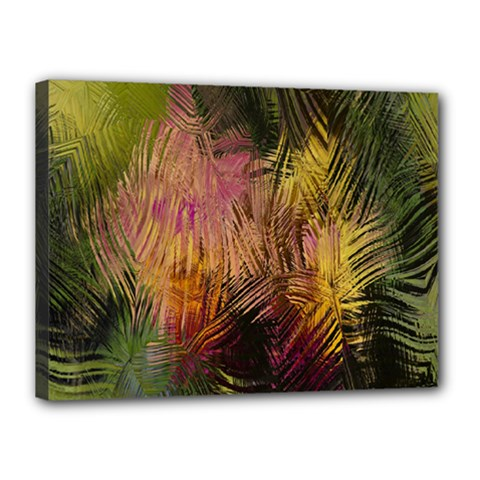 Abstract Brush Strokes In A Floral Pattern  Canvas 16  X 12  by Simbadda