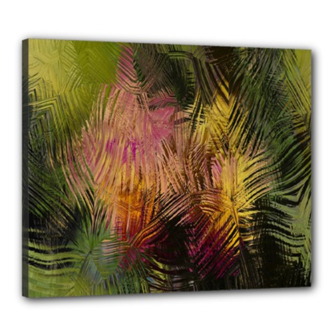 Abstract Brush Strokes In A Floral Pattern  Canvas 24  X 20  by Simbadda