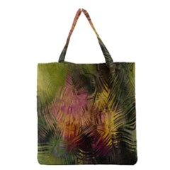 Abstract Brush Strokes In A Floral Pattern  Grocery Tote Bag by Simbadda