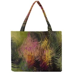 Abstract Brush Strokes In A Floral Pattern  Mini Tote Bag by Simbadda
