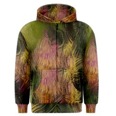 Abstract Brush Strokes In A Floral Pattern  Men s Zipper Hoodie by Simbadda
