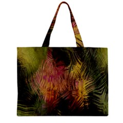 Abstract Brush Strokes In A Floral Pattern  Zipper Mini Tote Bag by Simbadda