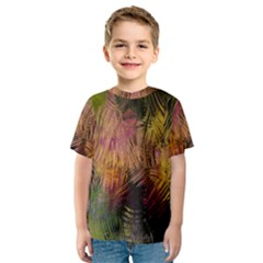 Abstract Brush Strokes In A Floral Pattern  Kids  Sport Mesh Tee by Simbadda