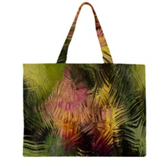 Abstract Brush Strokes In A Floral Pattern  Zipper Large Tote Bag by Simbadda