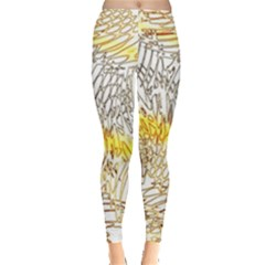 Abstract Composition Pattern Leggings