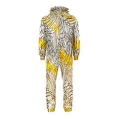 Abstract Composition Pattern Hooded Jumpsuit (kids)