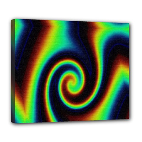 Background Colorful Vortex In Structure Deluxe Canvas 24  X 20   by Simbadda