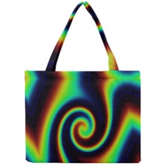 Background Colorful Vortex In Structure Mini Tote Bag by Simbadda