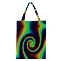 Background Colorful Vortex In Structure Classic Tote Bag by Simbadda