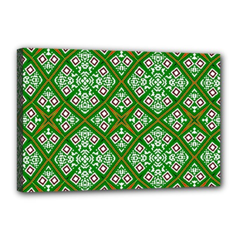 Digital Computer Graphic Seamless Geometric Ornament Canvas 18  X 12  by Simbadda