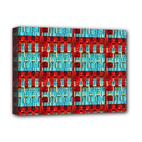 Architectural Abstract Pattern Deluxe Canvas 16  X 12   by Simbadda