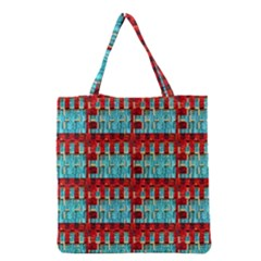 Architectural Abstract Pattern Grocery Tote Bag by Simbadda