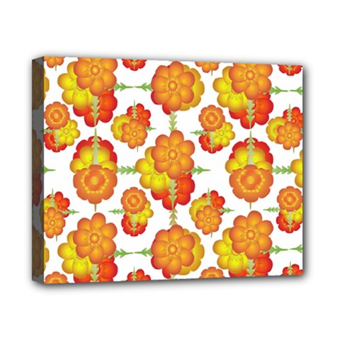 Colorful Stylized Floral Pattern Canvas 10  X 8  by dflcprints
