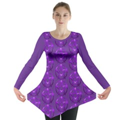 Mystic Purple Pagan Pentacle Wiccan Long Sleeve Tunic
