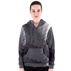 Abstract Pattern Moving Transverse Women s Zipper Hoodie