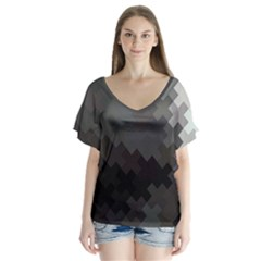 Abstract Pattern Moving Transverse Flutter Sleeve Top by Simbadda