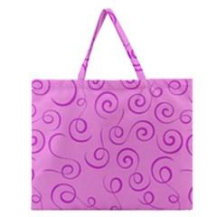 Pattern Zipper Large Tote Bag by Valentinaart