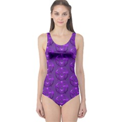 Mystic Purple Pagan Pentacle Wiccan One Piece Swimsuit