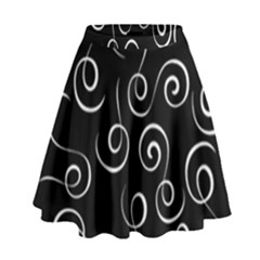 Pattern High Waist Skirt by Valentinaart