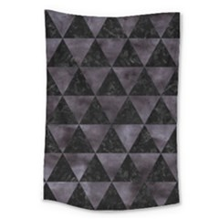 Triangle3 Black Marble & Black Watercolor Large Tapestry by trendistuff